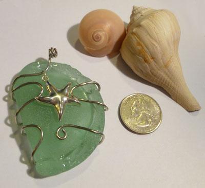 Sea foam green sea glass pendants aquamarine beach glass sea foam sea glass pendant mozeypictures Image collections
